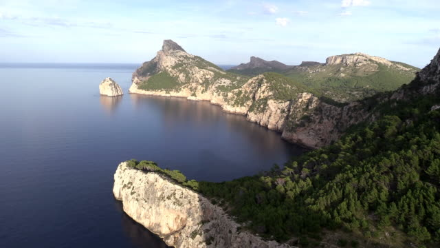 ws view of  cap de formentor / mallorca, spain - balearics stock videos & royalty-free footage