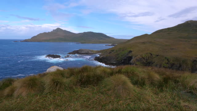 vídeos de stock, filmes e b-roll de view of cape horn island landscape - passear sem destino
