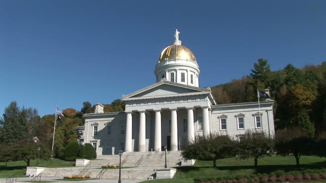 view of capital building in montpelier vermont united states - vermont stock-videos und b-roll-filmmaterial
