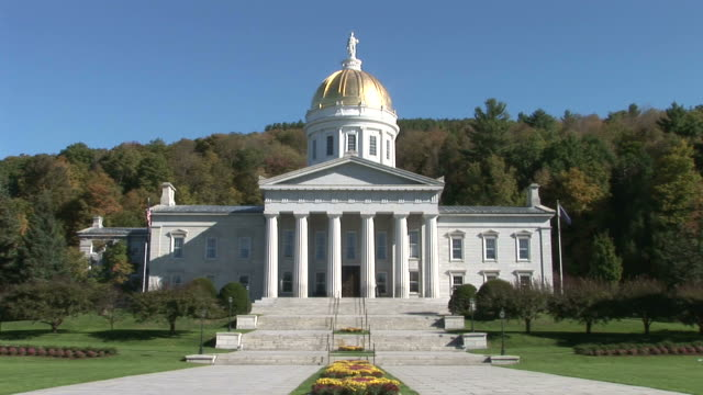 view of capital building in montpelier vermont united states - vermont state house stock videos & royalty-free footage