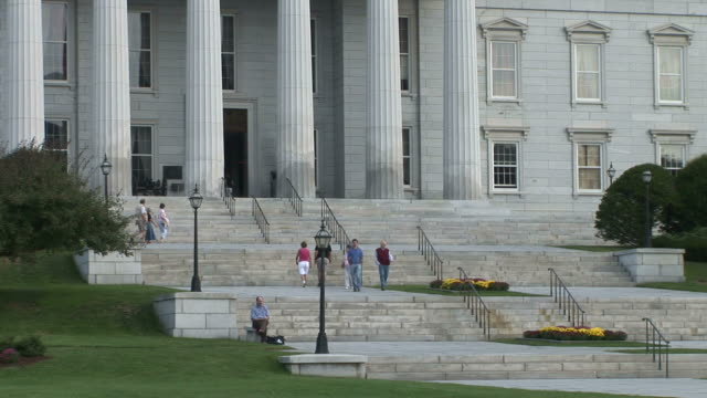 view of capitol building in montpelier vermont united states - vermont state house stock videos & royalty-free footage