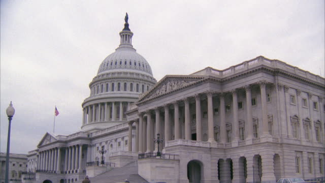 MS View of capitol building / Washington DC, United States