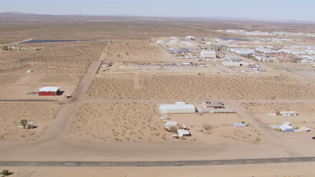 ws aerial view of car crash test track / mojave desert  - crash test stock videos & royalty-free footage