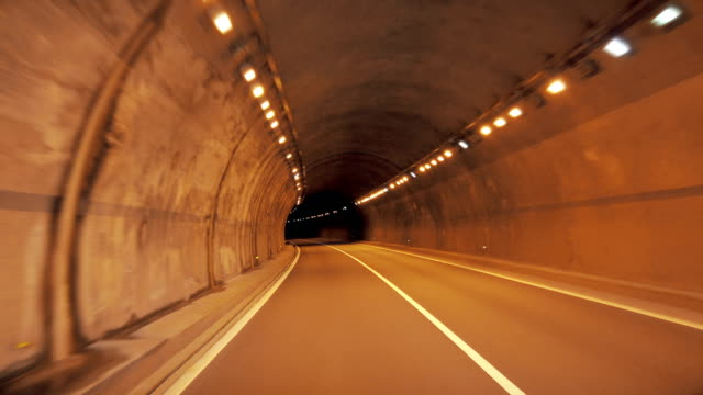 view of car driving in tunnel,china. - horizon stock videos & royalty-free footage