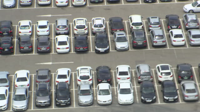 ARIEAL WS View of Car in parking lot / Yongin, Gyeonggi-do, South Korea