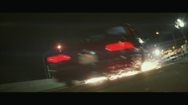 ws view of car moving in speed - acrobazia video stock e b–roll