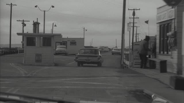 stockvideo's en b-roll-footage met ms pov view of car running on harbor bridge - 1962