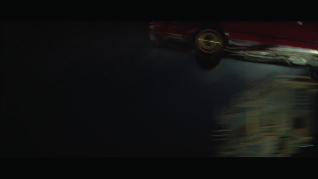 ws ts view of car stunt on drawbridge - drawbridge stock videos & royalty-free footage