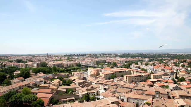 vdo : view of carcassonne from the fortress, france - carcassonne stock videos & royalty-free footage