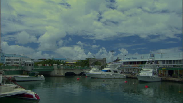 ws td tu view of careenage and harbor / bridgetown, st michael, barbados - 天使ミカエル点の映像素材/bロール