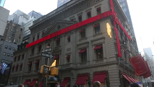 view of Cartier's holiday decor in Manhattan Cartier Holiday Decor on December 11 2012 in New York New York
