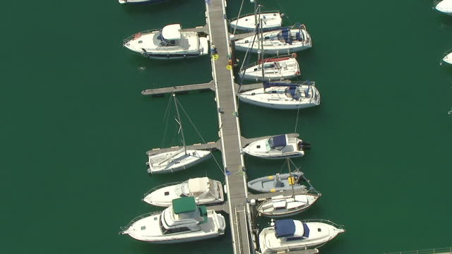 ws aerial zi view of cascais coast until marina / lisbon, portugal - cascais stock videos and b-roll footage