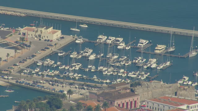 ws aerial zo view of cascais / lisbon, portugal - cascais stock videos and b-roll footage