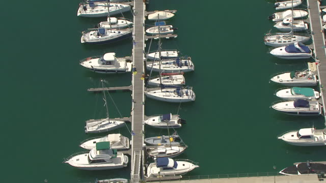 ws aerial zi view of cascais marina / lisbon, portugal - cascais stock videos and b-roll footage