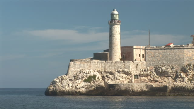 ws view of castillo del morro / havana city, havana, cuba - fortress stock videos & royalty-free footage