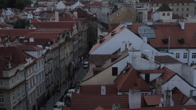 view of castle district from charles bridge, prague, czech republic, europe - stare mesto stock videos and b-roll footage