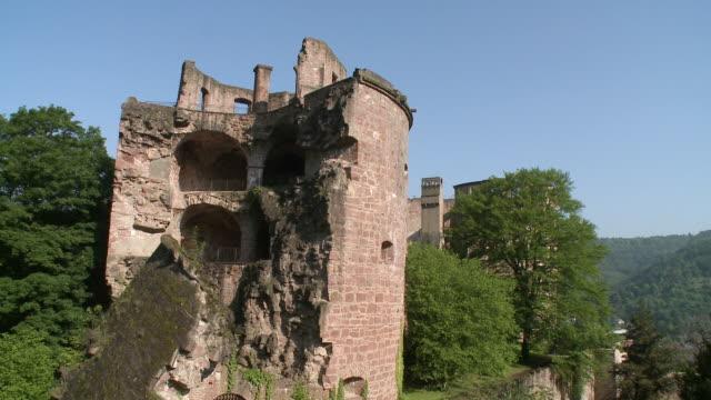MS View of castle / Heidelberg, Baden-Wuerttemberg, Germany