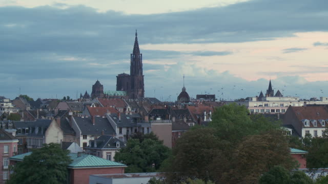 WS View of cathedral notre dame / Strasbourg, Alsace, France