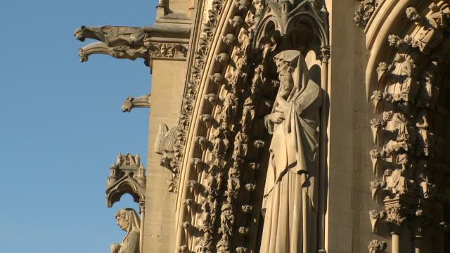 ms view of  cathedral saint-etienne de metz  / metz, lorraine, france - lorraine bildbanksvideor och videomaterial från bakom kulisserna