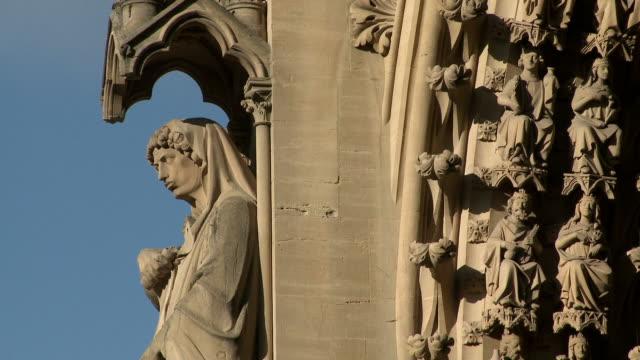 cu view of  cathedral saint-etienne de metz  / metz, lorraine, france - lorraine bildbanksvideor och videomaterial från bakom kulisserna