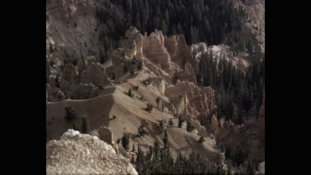 view of cedar breaks national monument in utah, usa - mineral stock videos & royalty-free footage