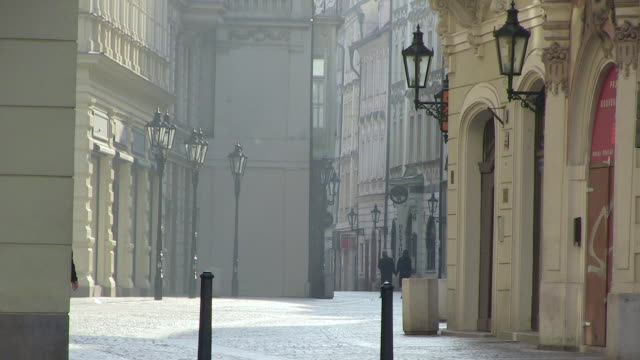 ms view of celetna street near old town square / prague, hlavni mesto praha, czech republic - prague old town square stock videos & royalty-free footage