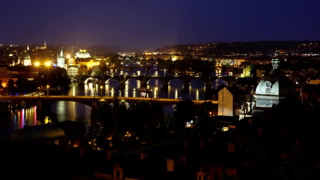 View of Charles Bridge at Vltava River in Prague