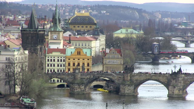 MS View of charles bridge near old town / Prague, Hlavni mesto Praha, Czech Republic