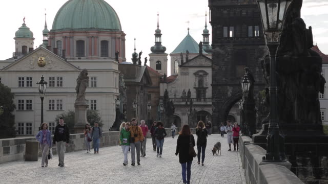 View of Charles Bridge, Prague, Czech Republic, Europe
