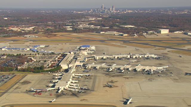 WS AERIAL TD View of Charlotte Douglas International Airport / North Carolina, United States