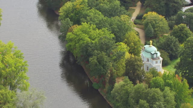 ws aerial tu view of charlottenburg palace / berlin, germany - charlottenburg palace stock videos & royalty-free footage