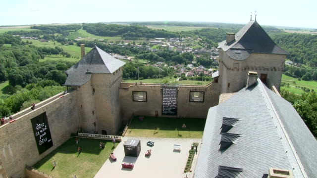 ws view of chateau de malbrouck / manderen, lorraine, france - lorraine stock videos & royalty-free footage