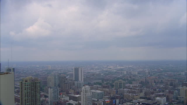 aerial view of chicago / illinois, usa - great lakes stock videos & royalty-free footage