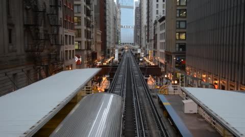 view of chicago subway train / chicago, illinois - underground station platform stock videos & royalty-free footage
