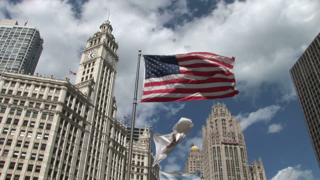 View of Chicago's Wrigley building and Tribune tower United States
