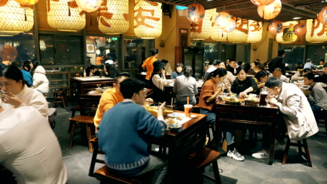 view of chinese restaurant - fast food stock videos & royalty-free footage