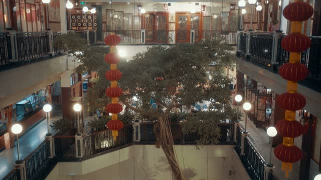 view of chinese restaurant,guanzhou,china. - banquet hall stock videos & royalty-free footage