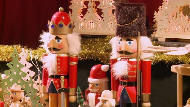 ms view of christmas decoration toy / bernkastel-kues, rhineland-palatinate, germany - male likeness stock videos & royalty-free footage