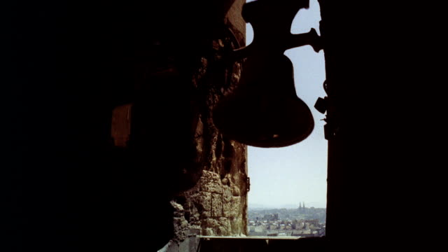 cu view of church bell ringing - church stock videos & royalty-free footage