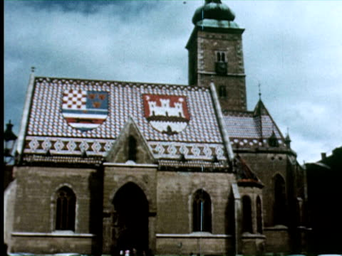 View of church in Zagreb, Croatia.