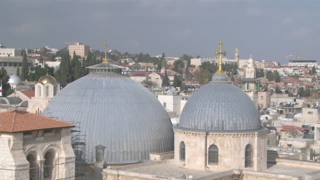 MS ZO View of church of  holy sepulchre / Jerusalem, Central province, Israel