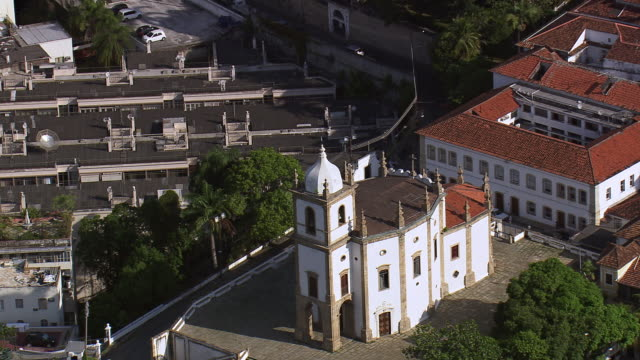 WS AERIAL View of Church of Our Lady of Glory Outeiro / Rio de Janeiro, Brazil