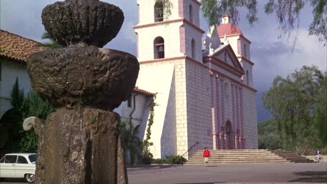 WS PAN View of church / Santa Barbara, California, United States