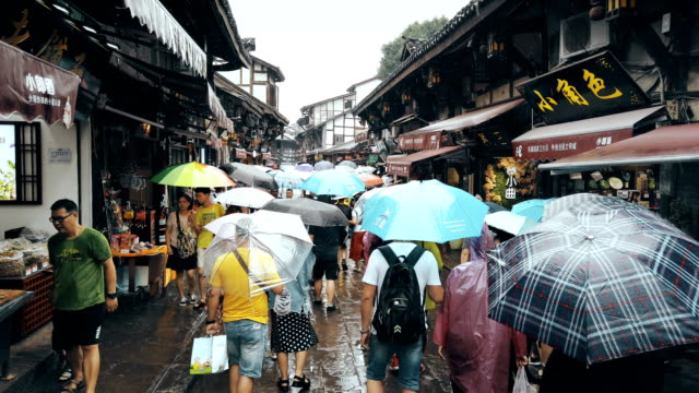 view of ciqikou ancient town,chongqing,china. - china east asia stock videos & royalty-free footage