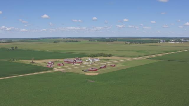 ws aerial ts view of circle bagg bonanza farm / mooreton, north dakota, united states - westward expansion stock videos & royalty-free footage