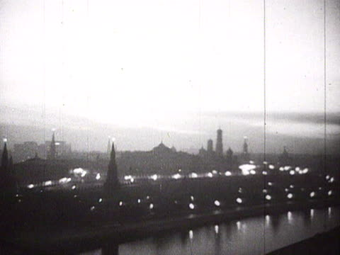 view of city at early morning audio / moscow, russia - 1940 stock videos & royalty-free footage