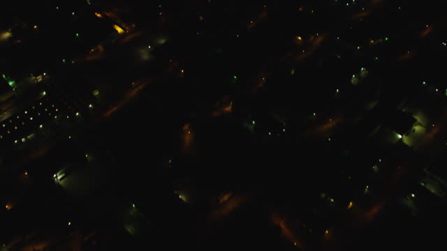"""""""MS TU AERIAL View of city at night / Houston, Texas, United States"""""""