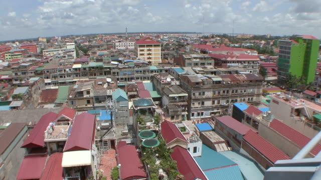 ws view of city at phnom penh / phnom penh, cambodia - phnom penh stock videos and b-roll footage