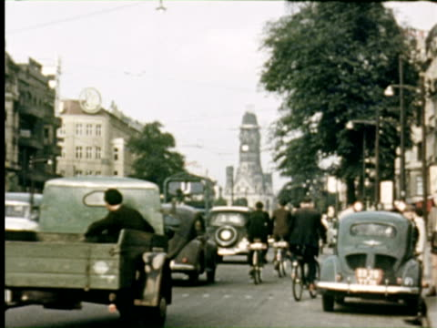 ms view of city  audio / germany - 1950 stock-videos und b-roll-filmmaterial