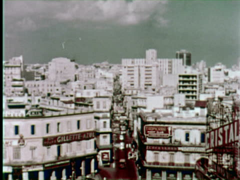 ms view of city  audio / havana, cuba - 1950 1959 stock-videos und b-roll-filmmaterial